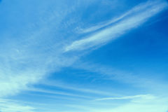 Blue sky background with tiny clouds. Royalty Free Stock Photos