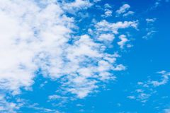 Blue sky background with tiny clouds. Stock Photography