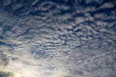 Blue sky tiny clouds. Blue sky background with tiny clouds Royalty Free Stock Photos