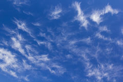 Blue sky background with tiny clouds Stock Image