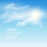 Blue sky background with tiny clouds. Vector Royalty Free Stock Image