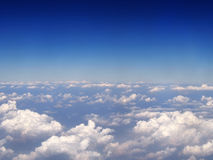 Blue sky background with white clouds Stock Images