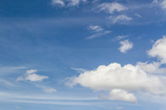 Blue sky background. Royalty Free Stock Photo
