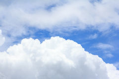 Blue sky background. With white clouds Royalty Free Stock Photos