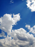 Blue sky background. Blue sky and white clouds background stock photography