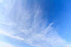 Blue sky background. With white clouds Stock Image