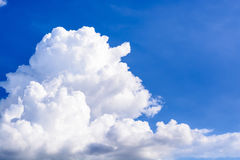 Blue Sky. Background with white clouds Royalty Free Stock Photo