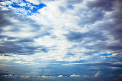 Blue sky background with white clouds Stock Photography