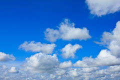 Blue sky background with white clouds. Beautiful blue sky background with white clouds Royalty Free Stock Photo