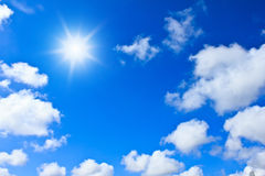 Blue sky background with white clouds Royalty Free Stock Photo