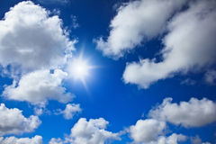 Blue sky background with white clouds Royalty Free Stock Photography
