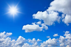 Blue sky background with white clouds. Beautiful blue sky background with white clouds Stock Image