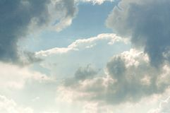 Blue sky background with white clouds Royalty Free Stock Photos
