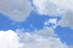 Blue sky background with white clouds closeup Royalty Free Stock Photography