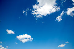 Blue sky background with white clouds. In concept peaceful and freedom life. skyscape for yoka and zen Stock Images