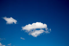 Blue sky background with white clouds. In concept peaceful and freedom life. skyscape for yoka and zen stock photo