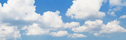 Blue sky background with white clouds Royalty Free Stock Image