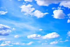 Dramatic cloudy sky clouds - natural sky background royalty free stock images