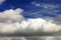 Blue sky backgroung. Blue sky with clouds background Royalty Free Stock Images