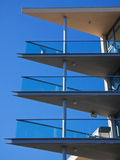 Blue Sky, Balconies and Acute Angles Stock Image
