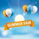 Blue Sky Balloons Summer Fair Stock Photography
