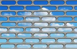 Blue sky through the bars Royalty Free Stock Photo
