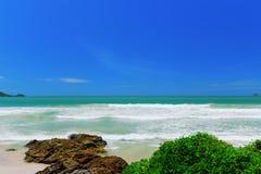 Blue sky and beach on Phuket Island of Thailand Stock Photos