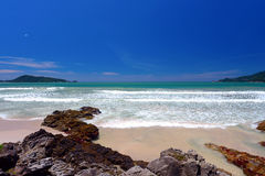 Blue sky and beach on Phuket Island of Thailand Royalty Free Stock Images