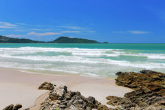 Blue sky and beach on Phuket Island of Thailand Stock Images
