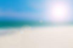 Blue Sky Beach in Summer Season Stock Images
