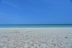 Blue Sky beach. Blue sky on the beach at tawau, malaysia Royalty Free Stock Photo