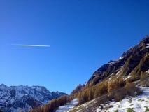 Blue Sky. Beautiful blue sky of Autumn season royalty free stock photos