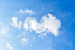 Blue sky. The beautiful sky on a clear day Royalty Free Stock Photo