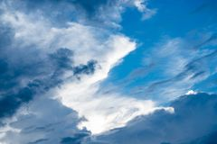 The blue sky with beautiful cloud Stock Photography