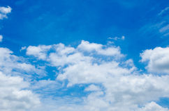 Blue sky and beautiful cloud Royalty Free Stock Photography