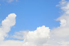Blue sky and beautiful cloud as background texture Stock Photo