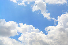 Blue sky and beautiful cloud as background texture Stock Images