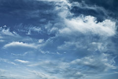 Blue sky with beautiful clouds Royalty Free Stock Images