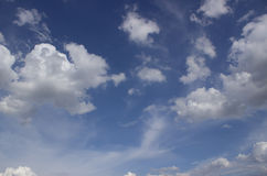 Blue sky on beautiful clouds. Royalty Free Stock Photos