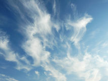 Blue sky with beautiful clouds. Photo of blue sky with beautiful clouds Royalty Free Stock Image