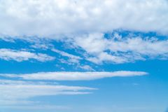 Blue sky with beautiful clouds stock photo