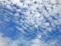 Beautiful blue sky with clouds for background and bright lighting clear on Summer. Blue sky Beautiful with clouds for background and bright lighting clear on royalty free stock photos