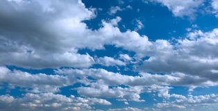 Blue sky and beautiful  clouds Royalty Free Stock Images