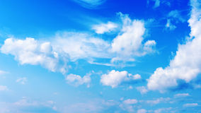 Blue sky and beautiful clouds Stock Image