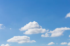 Blue sky. Beautiful white clouds in the sky Royalty Free Stock Photo