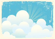 Blue sky with beautifull clouds. Royalty Free Stock Images