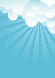 Blue sky with beautifull clouds Stock Images