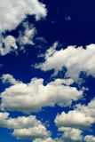 Blue sky and beauty white clouds Royalty Free Stock Photography