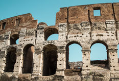 Blue Sky Beyond Coliseum Royalty Free Stock Photo