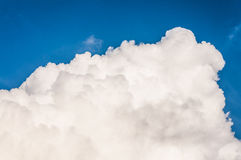 Blue sky with big cloud. Big cloud against blue sky background Royalty Free Stock Photography
